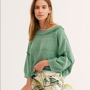 free people | sandcastle sweater jungle green